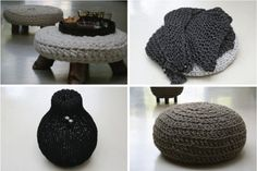 crochet home~ Really Great Ideas~and a practical way to be able to change colors often!:)