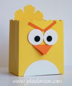 Julies Stamping Spot -- Stampin Up! Project Ideas Posted Daily: Angry Birds Fancy Favor Boxes