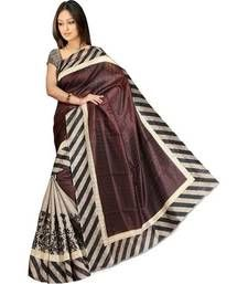 Buy Multicolor printed bhagalpuri silk saree with blouse art-silk-saree online
