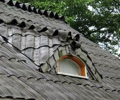 Great Idea!! Looks like a cottage thatched roof...