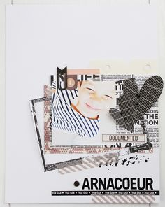 "#kesiclap, page "" L'Arnacoeur"" de Késia de la #kesiteam. #kesiart #scrapbooking"