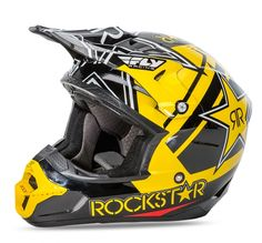 0bcafe047e2 Kinetic Pro Rockstar Rockstar Black Yellow Helmet