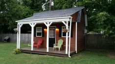 Ray built this neat 12x16 barn style shed that would make the perfect shed home. Nice big loft area for sleeping, and room enough downstairs for kitchen and bathroom, and stairway up to loft.
