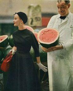Karen Radkai for Vogue, July 1953 | Luscious loves: Vintage fashion photographer Karen Radkai