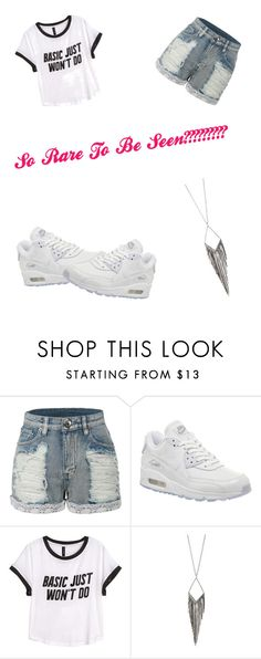 """""""We Getting It In"""" by starchelle0914 on Polyvore featuring LE3NO, NIKE, H&M and Jules Smith"""