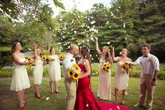 #enchantedcelebration #rocktheaislebride #njweddings #weddings #sunflowers