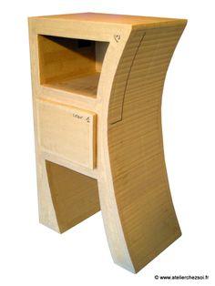 1000 images about meubles en carton brut on pinterest bonbon products and tables - Patrons meubles en carton gratuit ...