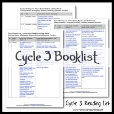 Books to look up at the library and read each week of CC.   Half-a-Hundred Acre Wood: CC Cycle 3 Resources
