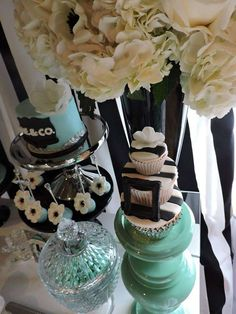 Lovely Tiffany birthday party! See more party ideas at CatchMyParty.com!