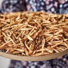 Nadiya Hussain's delicious matchstick fries, as seen on her BBC series, Nadiya's Family Favourites, are coated in a Japanese-inspired Furikake seasoning, and make for the most flavourful chips that the whole family will love. Chef Recipes, Great Recipes, Cooking Recipes, Favorite Recipes, Healthy Recipes, Nadiya Hussain Recipes, Curry Pasta, Chocolate Dishes, Fries Recipe