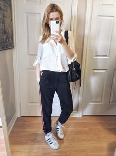 Side Stripe Trousers | Blouse | Adidas