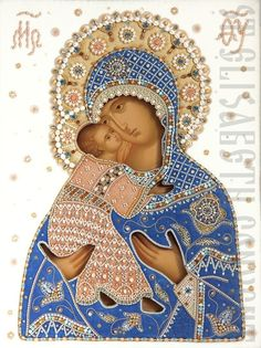 Hand Painted icon of the Mother of God of Vladimir | Icon Casing Workshop of St Elisabeth Convent | http://catalog.obitel-minsk.com/icon-casing-workshop | Hand Painted Icons