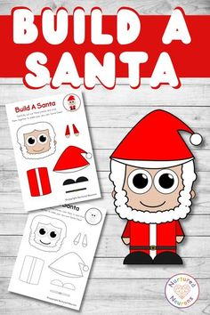 Here's a simple Christmas craft for you and your little ones! A festive make your own Santa! They just have to color, cut out the pieces and stick them together. Great for developing fine motor skills and scissor control. Grab the templates over at Nurtured Neurons today! #christmascrafts #santacrafts #preschoolchristmas #christmasprintables Santa Crafts, Easy Christmas Crafts, Christmas Printables, Simple Christmas, Easy Crafts, Crafts For Kids, Preschool Christmas Activities, Fun Activities For Toddlers, Printable Activities For Kids