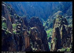 Spires and canyon walls. Black Canyon of the Gunnison National Park, Colorado.