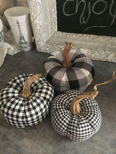 My handmade pumpkins. My handmade pumpkin Diy Pumpkin, Pumpkin Crafts, Fabric Pumpkins, Fall Pumpkins, Autumn Crafts, Holiday Crafts, Fall Halloween, Halloween Crafts, Halloween Decorations