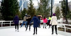 Maggie Daley Park - Skating Ribbon In the heart of downtown Chicago. #chicagoiceskaring #maggiedaleypark #chicagowinteractivities
