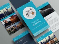 Online News Paper iOS APP UI (Free PSD) by Mushfiq