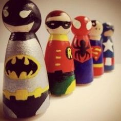 Make your own peg people superheroes with this tutorial. Superman, Spiderman, Batman & Robin to name but a few.