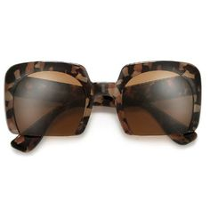 489496f55a2b Bold 53mm Semi-Rimless Square Frame Sunglasses Sunglass Hut