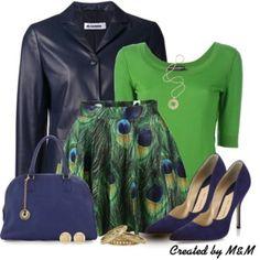 Flared Skirt + Leather Jacket #2