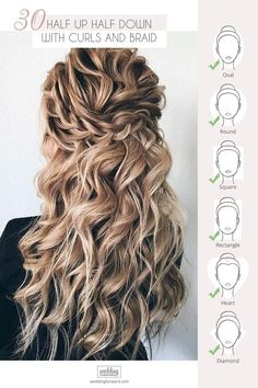 30 Wedding Hairstyles Half Up Half Down With Curls And Braid ❤️ We have collected for you the most original wedding hairstyles half up half down with curls and braid ideas from around the Internet to inspire brides.  #weddings #hairstyles #bridalhairstyle #weddinghairstyleshalfhalfcurlsbraid