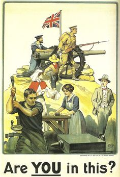 British poster, 1915, drawn by	Robert Baden-Powell: Are YOU in this?