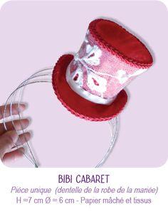 BIBI MARIAGE CABARET Mini chapeau haut de forme  © CARTONS DUDULLE