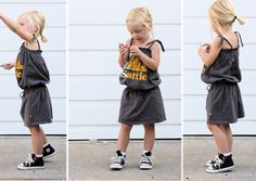 adorable dress with waistband from t-shirt