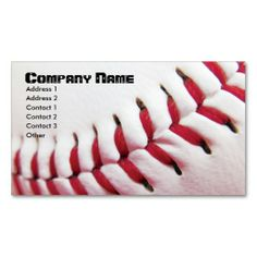 Baseball Business Cards. This is a fully customizable business card and available on several paper types for your needs. You can upload your own image or use the image as is. Just click this template to get started!