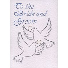 Stitching Cards Wedding doves