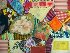 Patchwork quilts - collage plus add your own patterns plus stitching