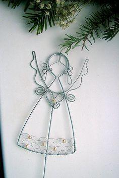anjelik(15cm) s perličkami-zápich