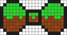 Minecraft Dirt Bow Perler Bead Pattern / Bead Sprite