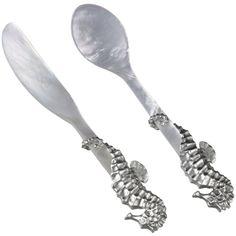 Asprey caviar spoon and spreader