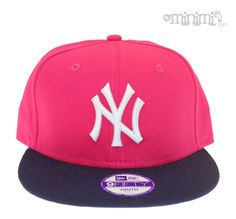 Casquette Snapback New Era enfant NY Yankees Rose et Navy #navy #casquette #rose #pink #girly #girl #fille #chapeau #new #york #newyork #fashion #swagg