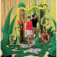 Reptile Party Create photo op and have kids decorate frame using large Popsicle sticks and glue on bugs etc.