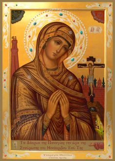 I love this beautiful icon of the Theotokos.