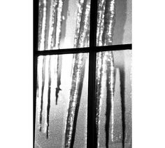 Icicles Photograph Abstract Photo  Geometric Black by JudyStalus