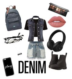 """Untitled #114"" by ogwert on Polyvore featuring LE3NO, FOSSIL, Dr. Martens, Ted Baker, maurices, Casetify, Smashbox, Lime Crime, Beats by Dr. Dre and Denimondenim"