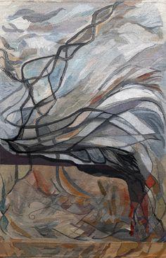 Marianne Poulsen, 2005, haute-lisse, cotton warp, wool, linen, silk, metal threads, 255 x 385 cm, (photo by Jan Djenner)
