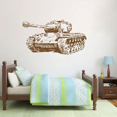 ik723 Wall Decal Sticker Military Tank US Army special weapons squad children's