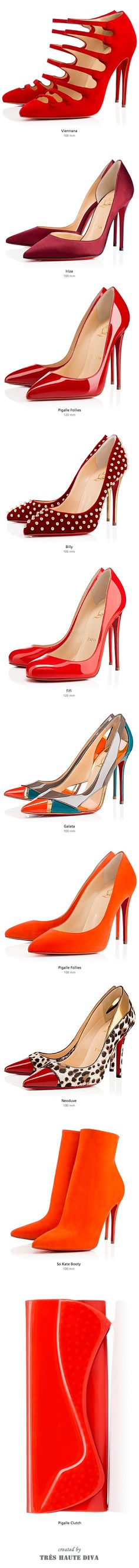 Christian Louboutin Red & Orange, FW'14 ♔THD♔ - Find 150+ Top Online Shoe Stores via http://AmericasMall.com/categories/shoes.html