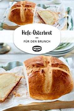 Hefe-Osterbrot Yeast Easter Bread: A simple bread for Easter brunch Festival bread # Dessert Simple, Desserts With Chocolate Chips, Chocolate Recipes, Kid Desserts, Healthy Dessert Recipes, Toffee, Easy Meals For Two, Baking With Kids, Easy Bread