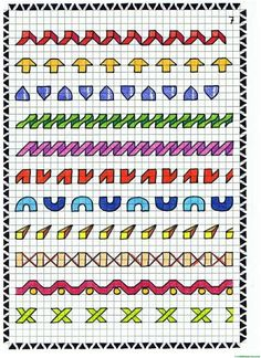 Graph Paper Drawings, Graph Paper Art, Cross Stitch Borders, Cross Stitch Designs, Blackwork, Pattern Design Drawing, Calligraphy Tutorial, Mandala, Bullet Journal Banner