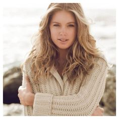 Doutzen Kroes dla Repeat Cashmere ❤ liked on Polyvore featuring models, doutzen kroes, people, faces and backgrounds