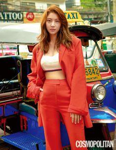 "The upcoming drama ""Are You Human?"" has Gong Seung Yeon playing Seo Kang Joon's bodyguard. Gong Seung Yeon, Lee Jong Hyun, Asian Actors, Korean Actresses, Korean Star, Korean Girl, Jonghyun Seungyeon, Asian Woman, Asian Girl"