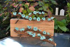 coquelicots  turquoise monter sur branche #bordeaux #turquoise #coquelicot #branche #PASSAGE115