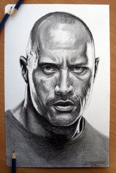Nice drawing of the rock or Johnson