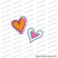 Cute Hearts Clipart Love Romance Doodles Teal Pink ClipArt Digital Scrapbook Valentine Heart Engagement Wedding Supplies, set of 22 designs, by InkeeDoodles, $3.50, #Cute #Hearts #Clipart #Love #Romance #Doodles #Teal #Pink #ClipArt #Digital #Scrapbook #Valentine #Heart #Engagement #Wedding #Supplies