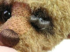 Teddy Bears Tutorials: Eye area - eyelashes and eyelids